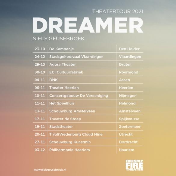 Dreamer - Theatertour 2021 - Niels Geusebroek